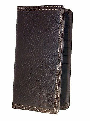 Nocona Rodeo Wallets HD Xtreme Work Mens Brown Leather Nylon Int front