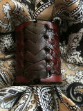 LARGE Scarf Slides for Thicker Wild Rags Leather Hand Tooled BW Dark back