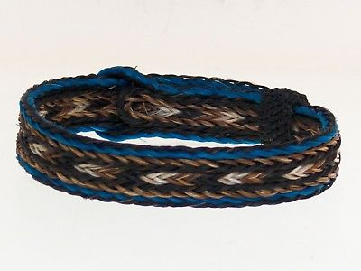 Horse Hair Bracelet One Size Fits All Black, Brown, White, Turquoise  WIDE front