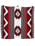 Southwest #4 Red/Black Wyoming Traders 100% Silk Wild Rags full