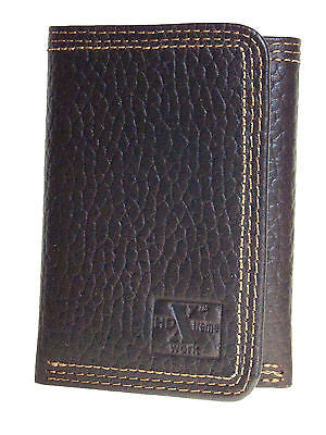 Nocona Wallets HD Xtreme Work Tri Fold Brown Nylon Interior front