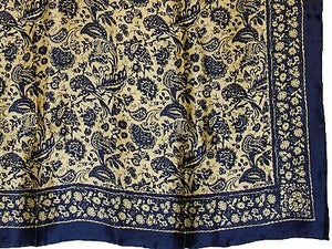 Satin Royal #11 Silk Western Wild Rags Wyoming Traders Buckaroo Scarf detail