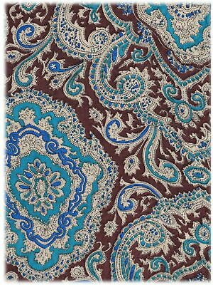 Extra Large 42 Inch Paisley Maroon/Gold Silk Wild Rags full