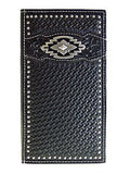 Ariat Mens Western Rodeo Wallet/11 Credit Card/ Billfold/Black/Southwest front