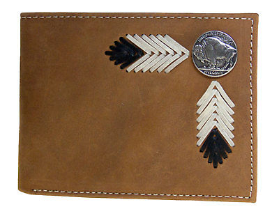 Buffalo Nickel Bi-Fold with Pass Case Nocona Western Wallets