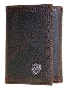 Performance Work Tri-fold Dark Brown Rowdy Ariat Wallets