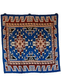Southwest #11 Royal/Bronze 100% Silk Wild Rags full