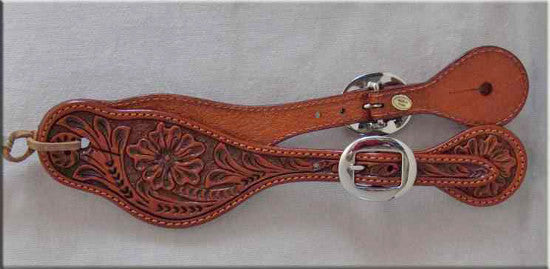 Western Leather Spur Straps Ladies front