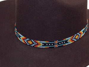 Beaded Cowboy Hat Band Stretch Fit Southwest Design detail
