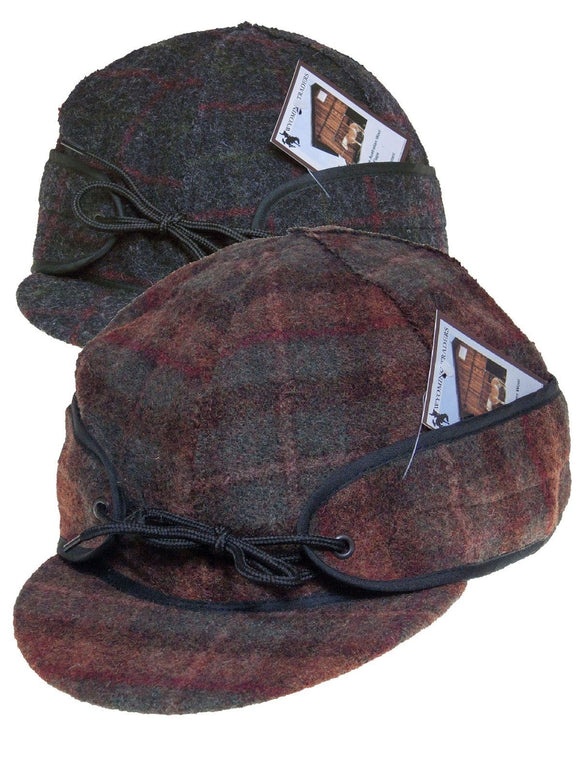 Wyoming Traders Wool Cap / Fraser Plaid / With No Ear Flaps
