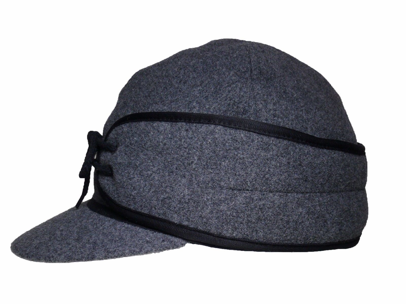 ... Winter Wool Cap Fold Down Ear Flaps Wyoming Traders side detail 2 ... 8f249c38a04