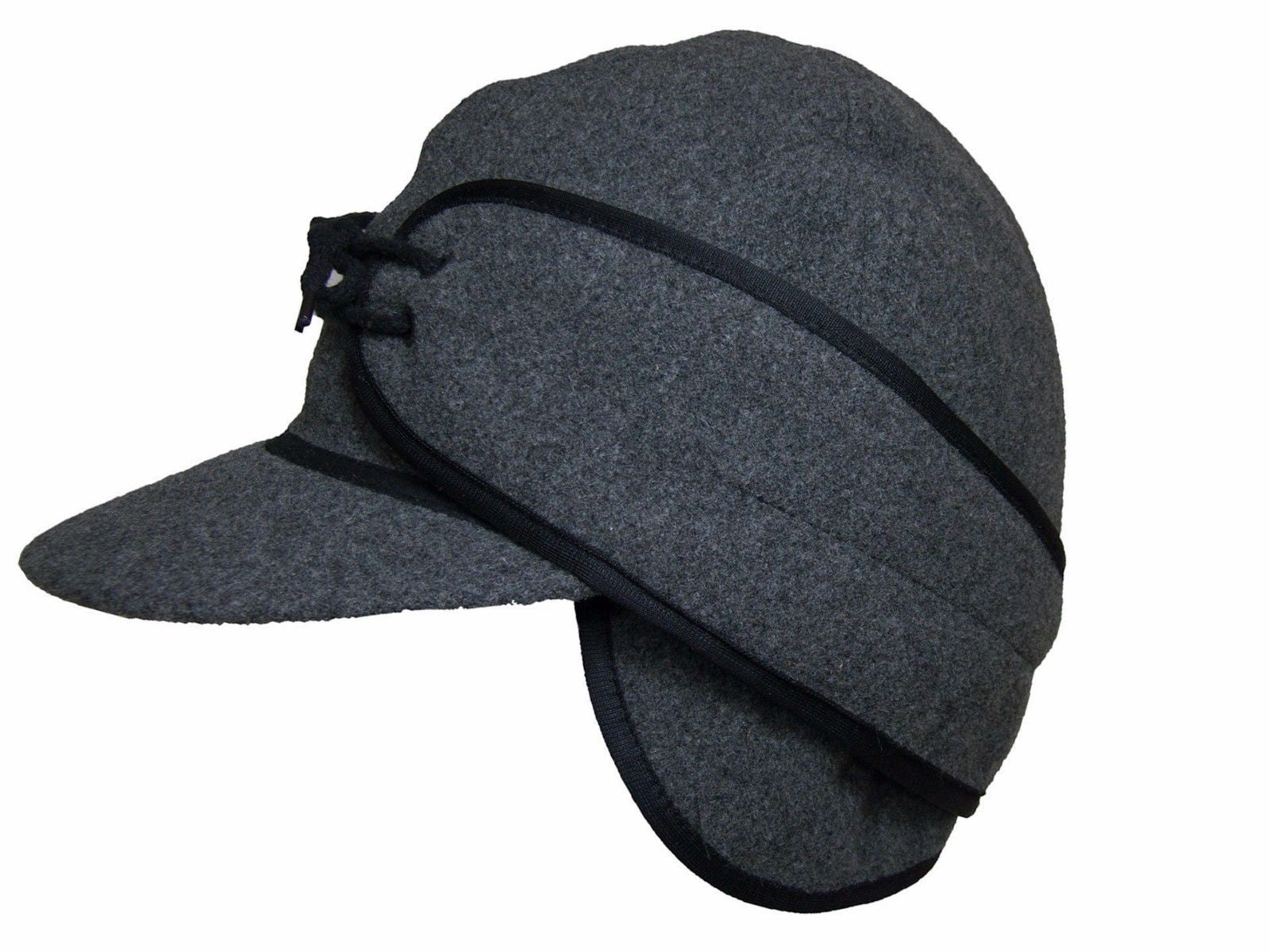 ... Winter Wool Cap Fold Down Ear Flaps Wyoming Traders side detail ... 6fb482dee2d