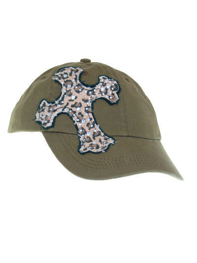 Cowgirl Western Baseball Cap/Blazin Roxx/Cowgirl Cross/Brown/Bling front
