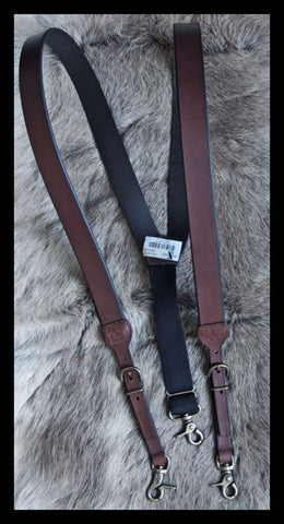 Western Leather Galluses/Suspenders Heavy Duty HDX by Nocona Brown