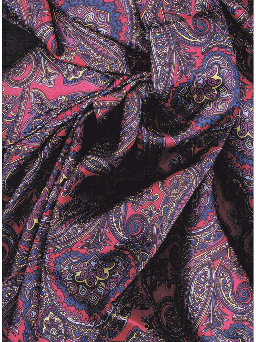 Calico 1 Red Amp Blue Paisley Silk Wild Rags