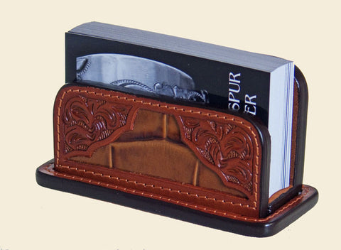 Western Leather Card Holder Gator