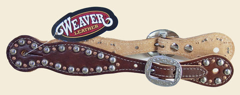 Western Spur Straps/Weaver Rockstar Collection/ Med Brown/Ladies/USA