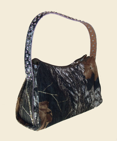 Western Handbag Mossy Oak and Bling Design by Nocona Small front