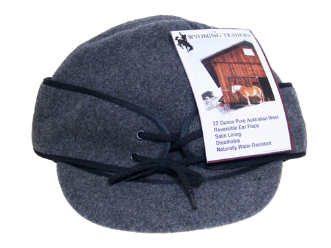 Winter Wool Cap/Fold Down Ear Flaps/Wyoming Traders