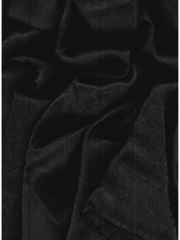 XL 42 in. Jacquard Solid Black Cowboy Silk Wildrag Bandana Buckaroo Scarf ruffled