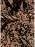 Paisley Jacquard Gold/Black-TAN Silk Wild Rags ruffled