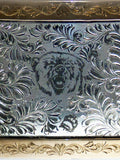 Custom USA Made Engraved Sterling Silver Bear Buckle