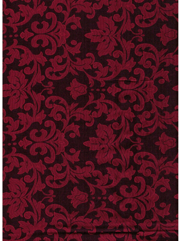 Silk/Poly Blend Jacquard Wild Rag Red and Black 36 x 36 inch