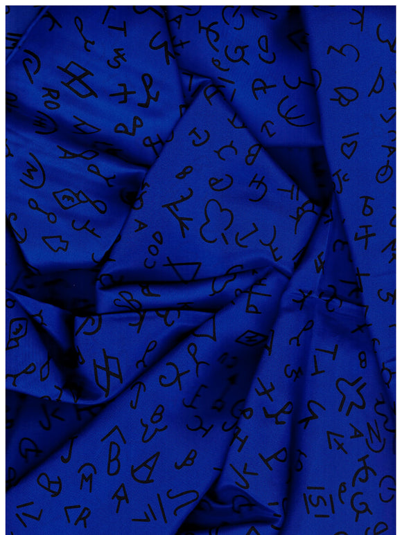 XL 42 Inch Brand Royal Blue 100% Silk Wild Rags