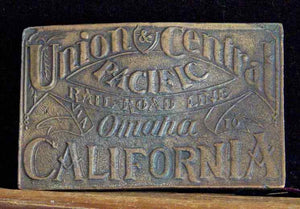 Vintage Buckle Union & Central Pacific Rail Road front