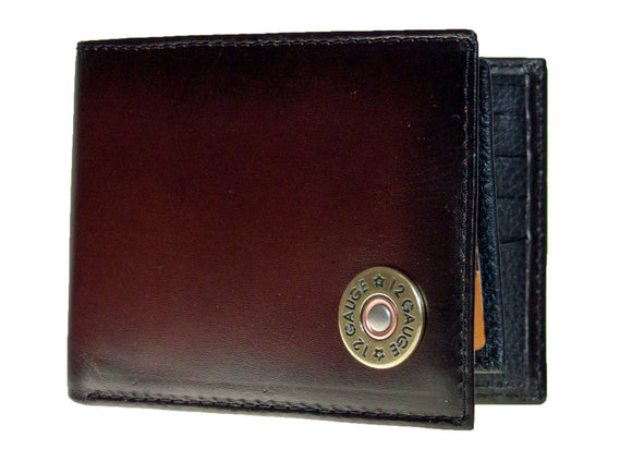 Shotgun Shell Wallet by Nocona  Bi-fold With Pass Case/Leather