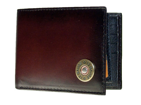 Nocona Mens Western Wallet  Bi-fold With Pass Case/Shotgun Shell/Leather front