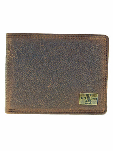 Nocona HD Xtreme Work Western Wallet/Bi-Fold/Removable Pass Case/Med Br