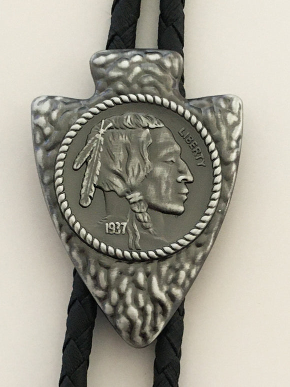 Arrowhead Indian Head Nickel Western Bolo Ties