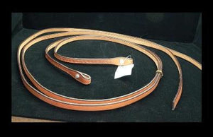 Tooled Split Reins from Red Cliff Tack front