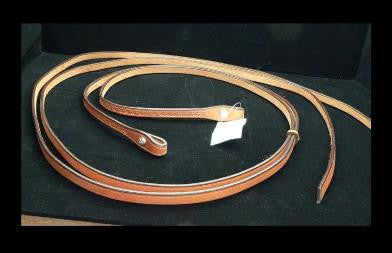 Tooled Split Reins from Red Cliff Tack