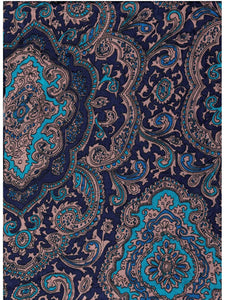 Paisley Jacquard Blue/Gold Western Cowboy Wild Rags full