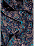 Paisley Jacquard Blue/Gold Western Cowboy Wild Rags ruffled