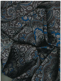 Paisley Jacquard Blue/Silver Western Cowboy Wild Rags ruffled