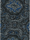 Paisley Jacquard Blue/Silver Western Cowboy Wild Rags full