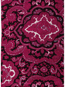 Paisley Jacquard Red/Black Cowboy Wild Rags full