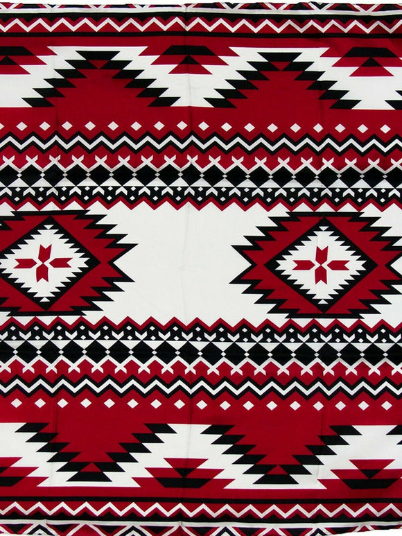 Southwest #4 Red/Black Wyoming Traders 100% Silk Wild Rags