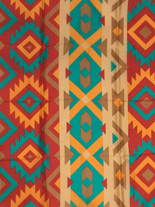 Southwest #5 Orange/Red/Turquoise Wyoming Traders Buckaroo Wild Rags detail