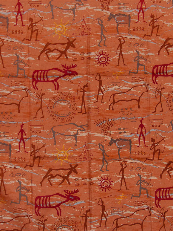 Southwest #3 Rust Cave Wyoming Traders 100% Silk Wild Rags detail