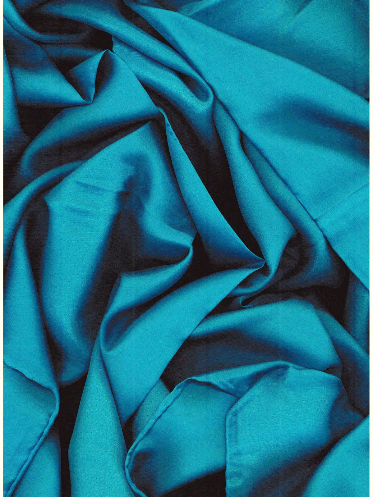 Wild Rags Solid Turquoise 100% Silk ruffled