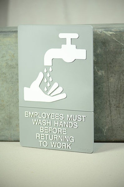 "6"" x 9"" Employee's Wash Hands Sign"