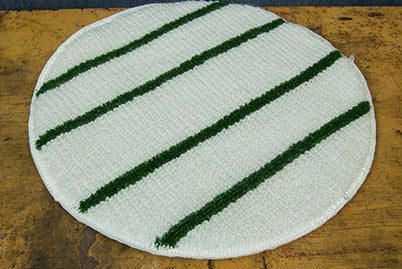 "19"" Green Stripe Bonnet"
