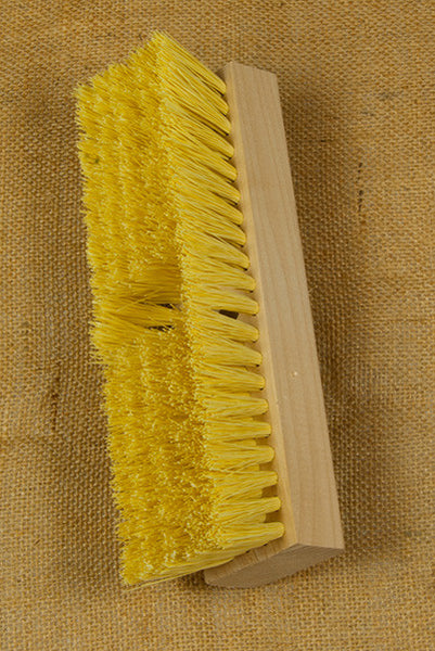 "10"" Stiff Poly Deck Brush"