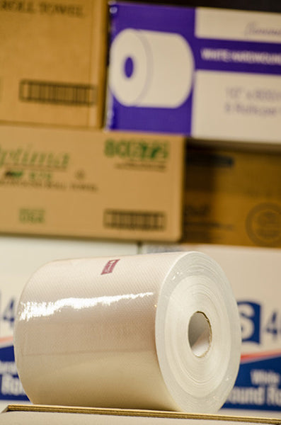 800' White Roll Towel, 6/cs.