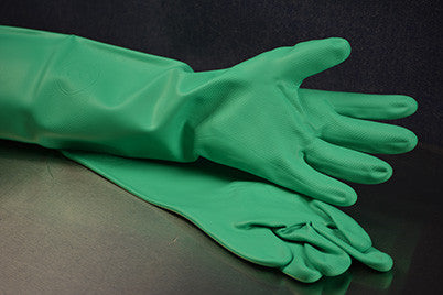 "18"" Medium Green Nitrile Glove"
