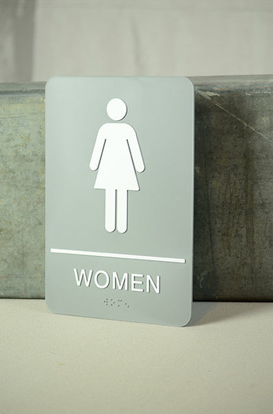 "6"" x 9"" Women's Restroom Sign"